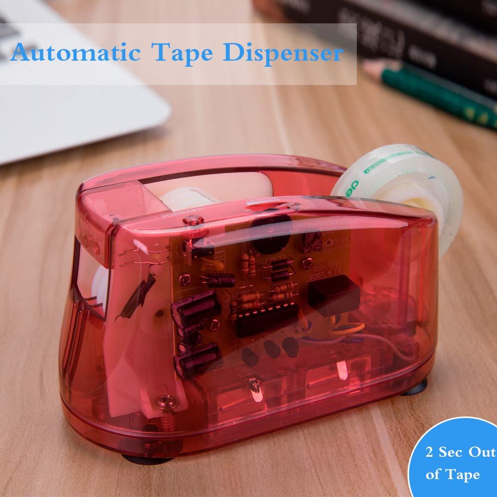 CNASA Electric Tape Dispenser Heavy Duty Dispenser Mini Desktop Tape Dispenser Non-slip Desk Tape Dispenser