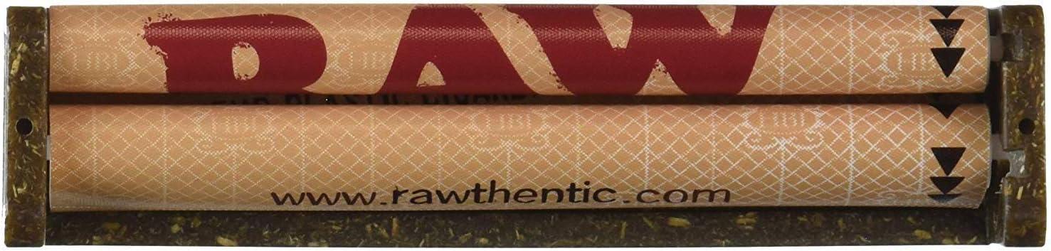 Raw - Liadora de cigarros de plástico, tamaño grande (110 mm), plástico, marrón, pack de 1