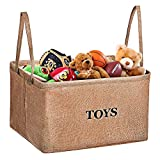 Small Bathroom Big Storage Toy Storage Bin, MaidMAX XL Flax Kids Collapsible Storage Basket Organizer for Toys, Clothing, Children Books, Gifts or Laundry, Brown