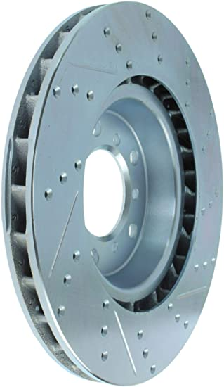 StopTech 227.34059R Select Sport Drilled and Slotted Brake Rotor; Front Right