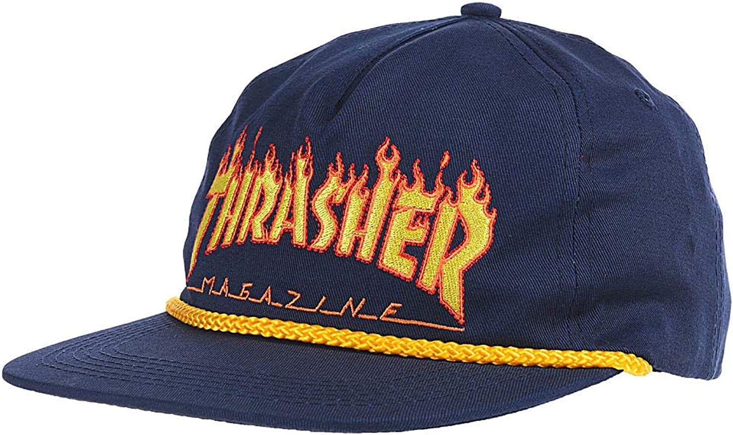 THRASHER Gorro Snapback Flame Rope Azuloscuro (Default, Azuloscuro ...