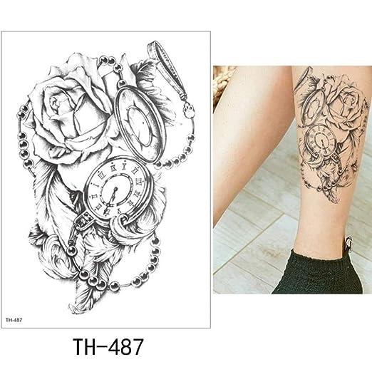 adgkitb Etiqueta engomada del Tatuaje Temporal 3pcs Flor Tatto ...