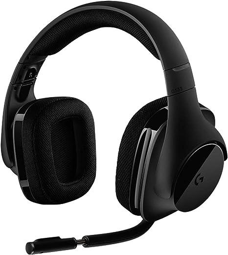 Logitech G533 Cuffie Gaming Wireless con Microfono, Audio Surround 7.1, Cuffie DTS: X, Driver Pro-G 40 mm, Cancellazione Rumore, 2.4 GHz Wireless, USB, Leggere, Batteria fino a 15h, PC/Mac, Nero