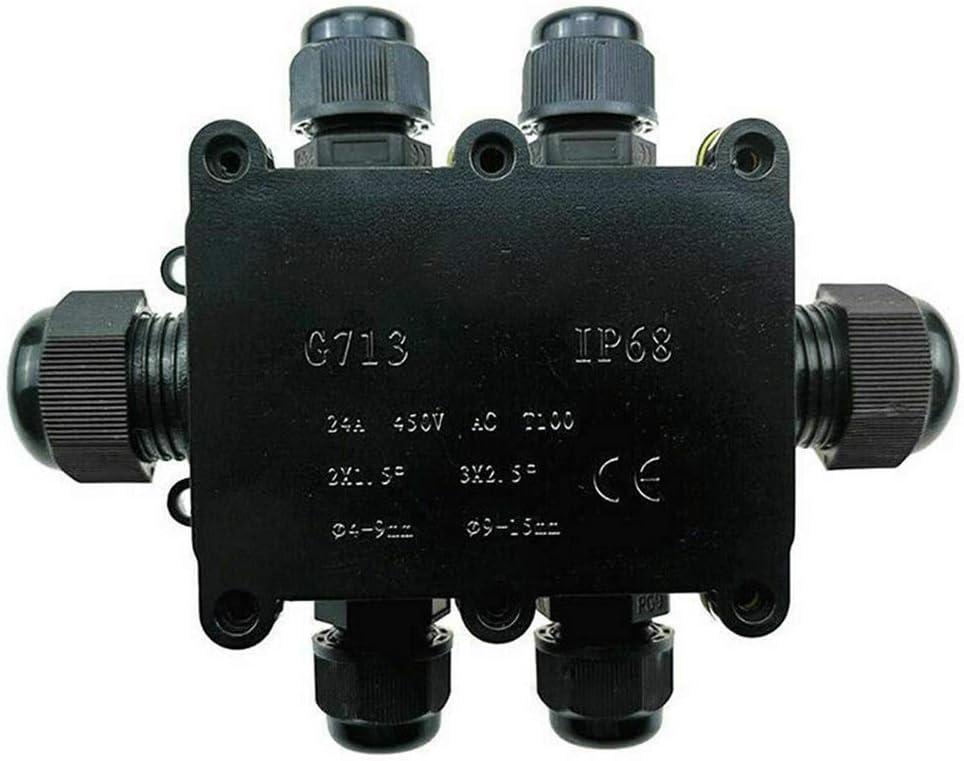 Connecteur de C/âble /électrique de cas de Bo/îte de Jonction /étanche IP68 /étanche 4 voies