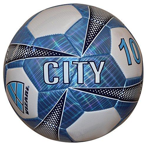 (Vizari City Soccer Ball, Sky Blue, Size)