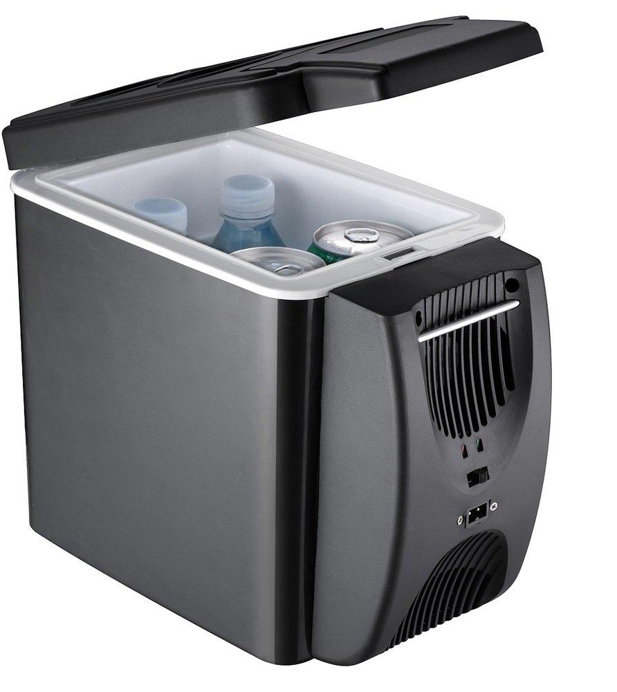 6L-10L Auto Kühlschrank Tragbarer Kühlschrank Zu Hause Tragbare Heiz- und Kühlbox Mini Kühlschrank Dual-Use Im Auto/Zuhause/Im Freien mit Plug Fit Für Ihr Land (Farbe : Schwarz) IKUN-JJ