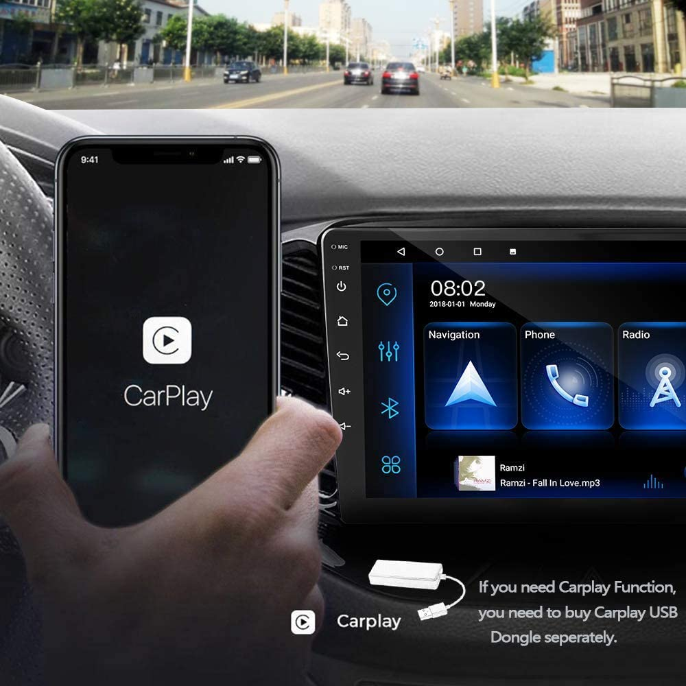 """9/"""" Touch Screen Car Radio Multimedia Player with Bluetooth FM WiFi USB Mirror Link for Android//iOS Phone Backup Camera Android 9.1 Double Din Car Stereo Support Split Screen GPS Navigation"""