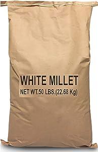 EasyGo Product White Millet Wild Bird Food – 50 lb