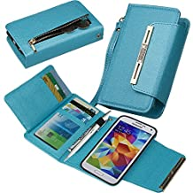 Case for Samsung S5, xhorizon TM SR [Upgraded] 2 in 1 Premium Leather Wallet Rhinestone Button Closure Magnetic Car Mount Phone Holder Compatible Folio Case for Samsung Galaxy S5 i9600
