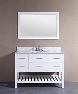 Belvedere Bath T9223D 48 Inch Belvedere White Bathroom Vanitywithmarble Top