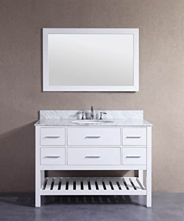 Belvedere Bath T9223D Bathroom Vanity With Marble Top, 48 Inch W X 22 Inch D