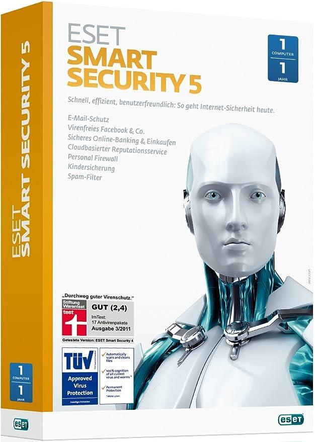 Eset Smart Security 5 1usuario(s) 1año(s) - Seguridad y antivirus (1, 1 año(s)): Amazon.es: Software