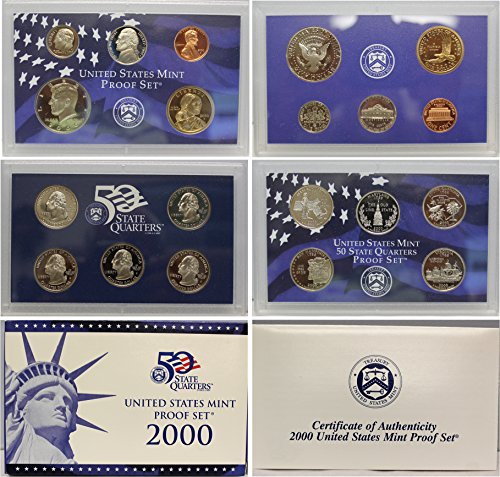 2000 S US Mint Proof Set Original Government Packaging from Unknown