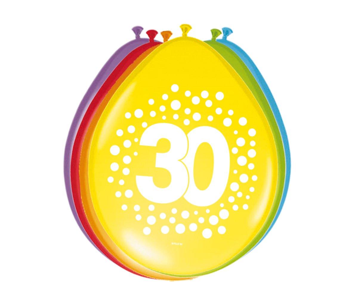Party Collection Lote DE 16 Globos Motivo Número 30 ...