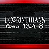 1 Corinthians 13:4-8 Love is.. Christian Car Sticker Truck Window Vinyl Decal Blue