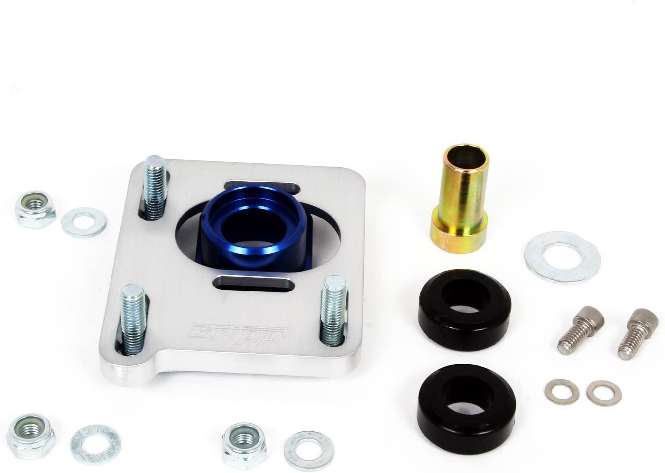 BBK Performance 2527 Caster Camber Alignment Kit for Ford Mustang CNC Machined Billet Aluminum With Clean Anodized Finish