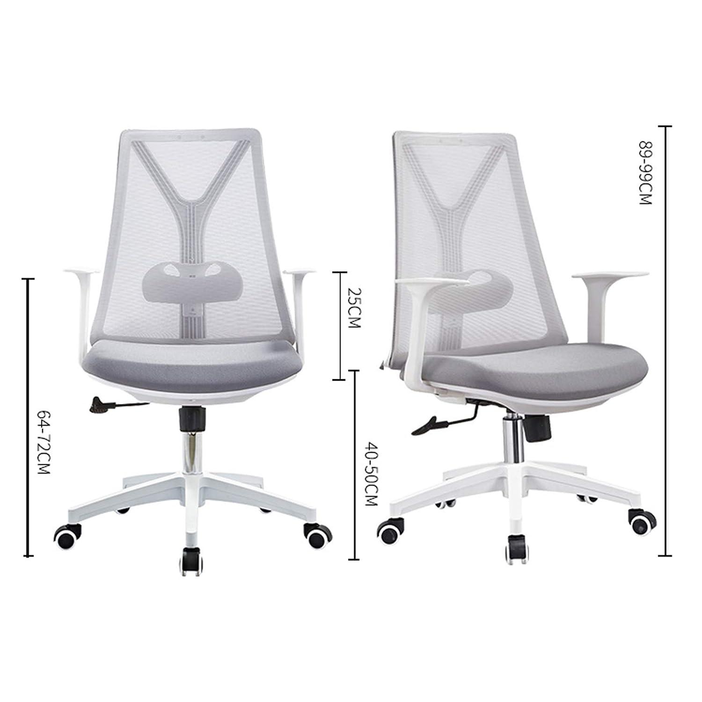 YYL kontorsstol mesh kontorsstol, ergonomisk högrygg dator svängbar stol, multifunktionell personalstol svängbar stol (färg: Stil1) stil2
