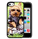 Best Nue Design Cases Friend 5c Phone Cases - Yorkshire Terrier Biker Hard Snap On Cell Phone Review