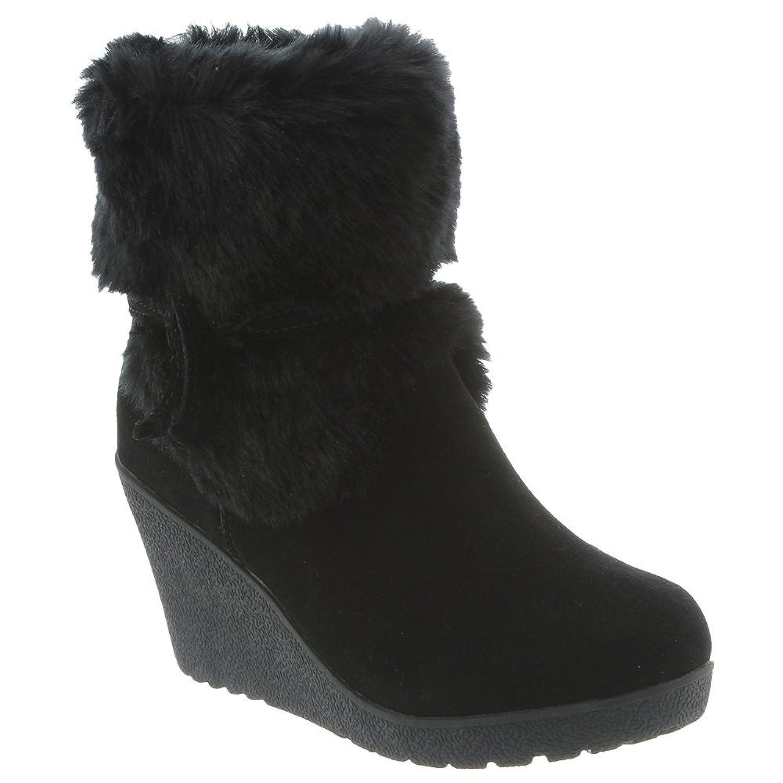 Women's Penelope Suede Faux Rabbit Fur Sheepskin Fur Rubber Snow Boots