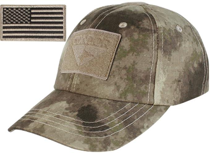 Amazon.com  Condor Tactical Cap with Patch Bundle (A-TACS)  Clothing 314eba450de