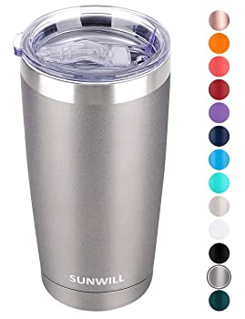 SUNWILL 20oz Cool Gray Reusable Coffee Cup