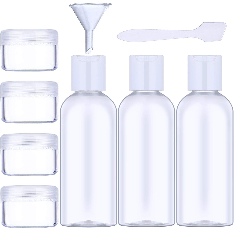 Winter Dong 9pezzi in totale 50ml liquido trasparente bottigliette da viaggio e articoli da toeletta contenitori CN