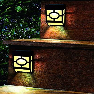 Solar Powered Color Changing Mount Light Outdoor Landscape Garden Yard Fence Warm White (Pack 4) : Garden & Outdoor