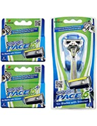 Dorco Pace 6 Plus- Six Blade Razor System with Trimmer...