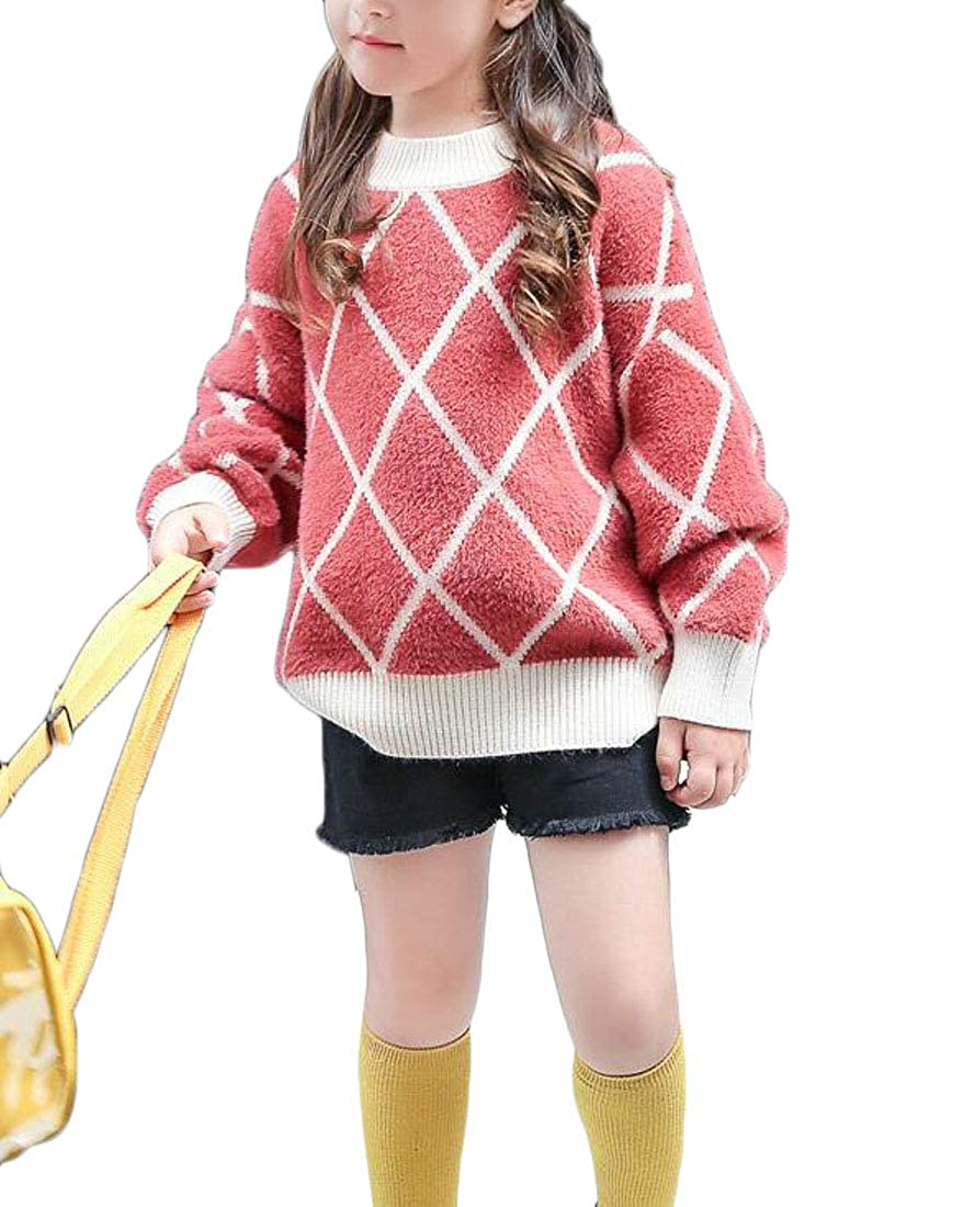 Adriat Girls Striped Autumn Knit Cute Jumper Pullover Sweaters