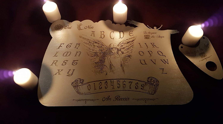 Ouija De la part des Anges Gravure sur bois.N°1 de la création française reconnue par les médiums et les meilleurs enquêteurs du paranormal en France.