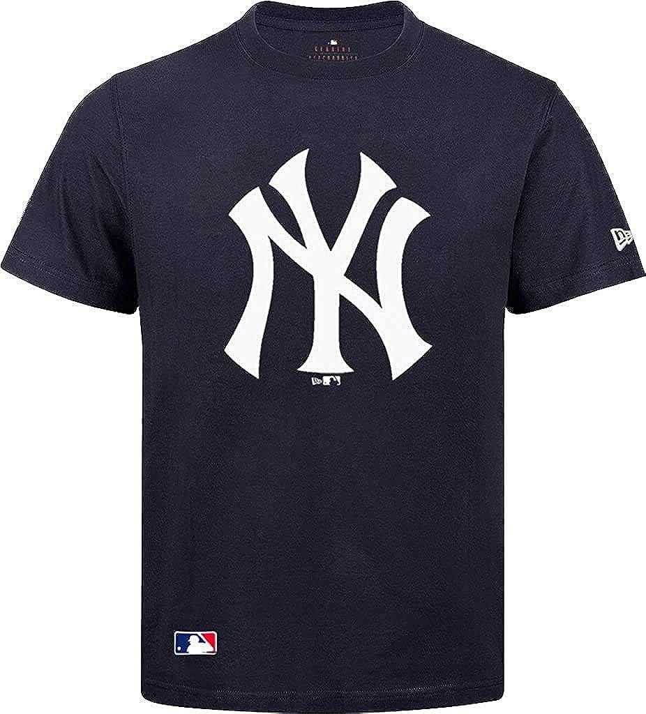 Camiseta New Era de los New York Yankees, azul marino/blanco azul y blanco L