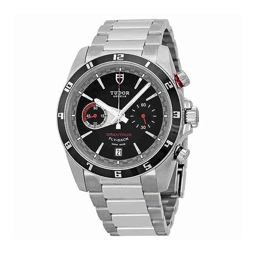 Tudor GRANTOUR Flyback Negro Dial Cronógrafo Mens Reloj 20550 N-bkss: Amazon.es: Relojes