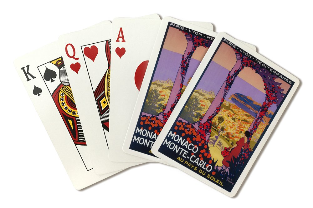 Monte Carlo, Monaco - Vintage Travel Advertisement (Playing Card Deck - 52 Card Poker Size with Jokers)