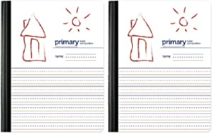 Handwriting Practice Primary Composition Book, Primary Ruled/Unruled 80 Sheets Set of 2