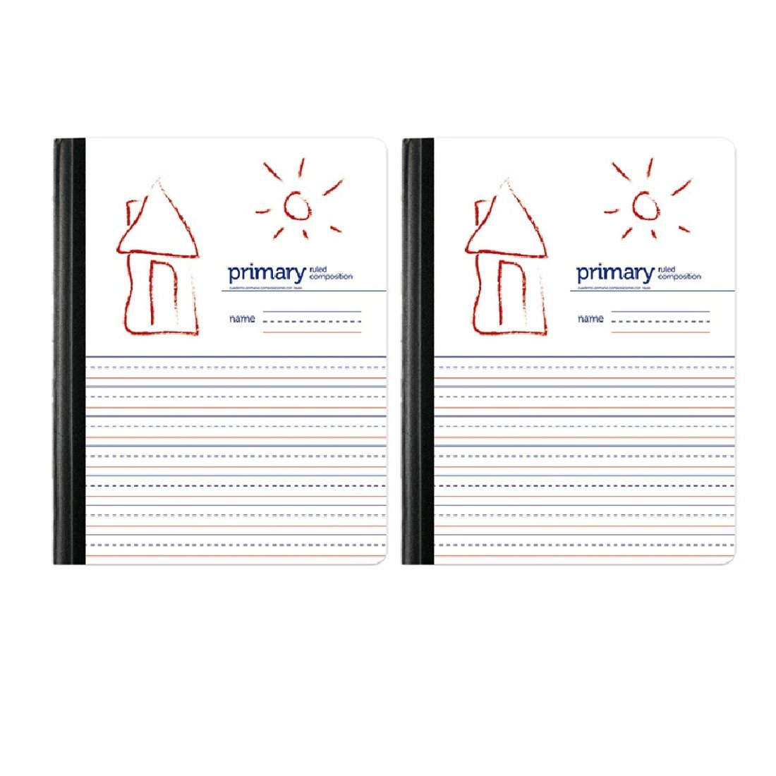 Primary Ruled//Unruled 80 Sheets Set of 2 Handwriting Practice Primary Composition Book