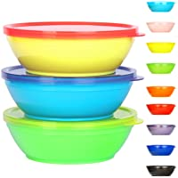 Youngever 18 Pack 8 ounce Kids Bowls with Lids, Small Food Storage Containers, Toddler Bowls with Lids, Microwave Safe…