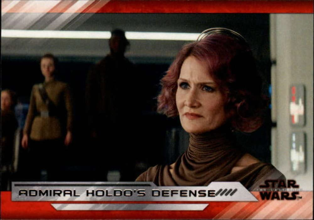 2018 TOPPS STAR WARS THE LAST JEDI II ADMIRAL HOLDO /'S DEFENSE D/'ACY CARD #62