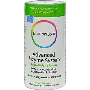 Rainbow Light Advanced Enzyme System 180 Vegetarian Caps
