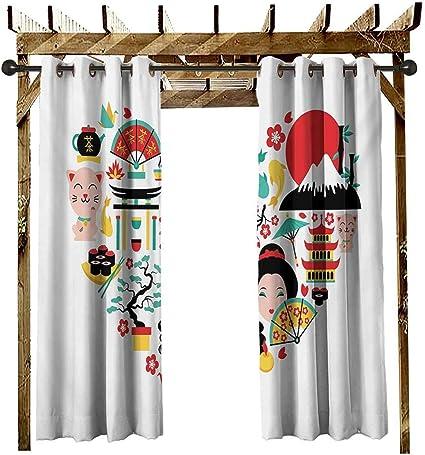 leinuoyi Barra de Cortina Japonesa para Exteriores, diseño de ...