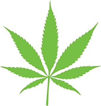 Pot Leaf Decal Vinyl Car Window Marijuana Weed Cannabis Sticker 420 ANY SIZE