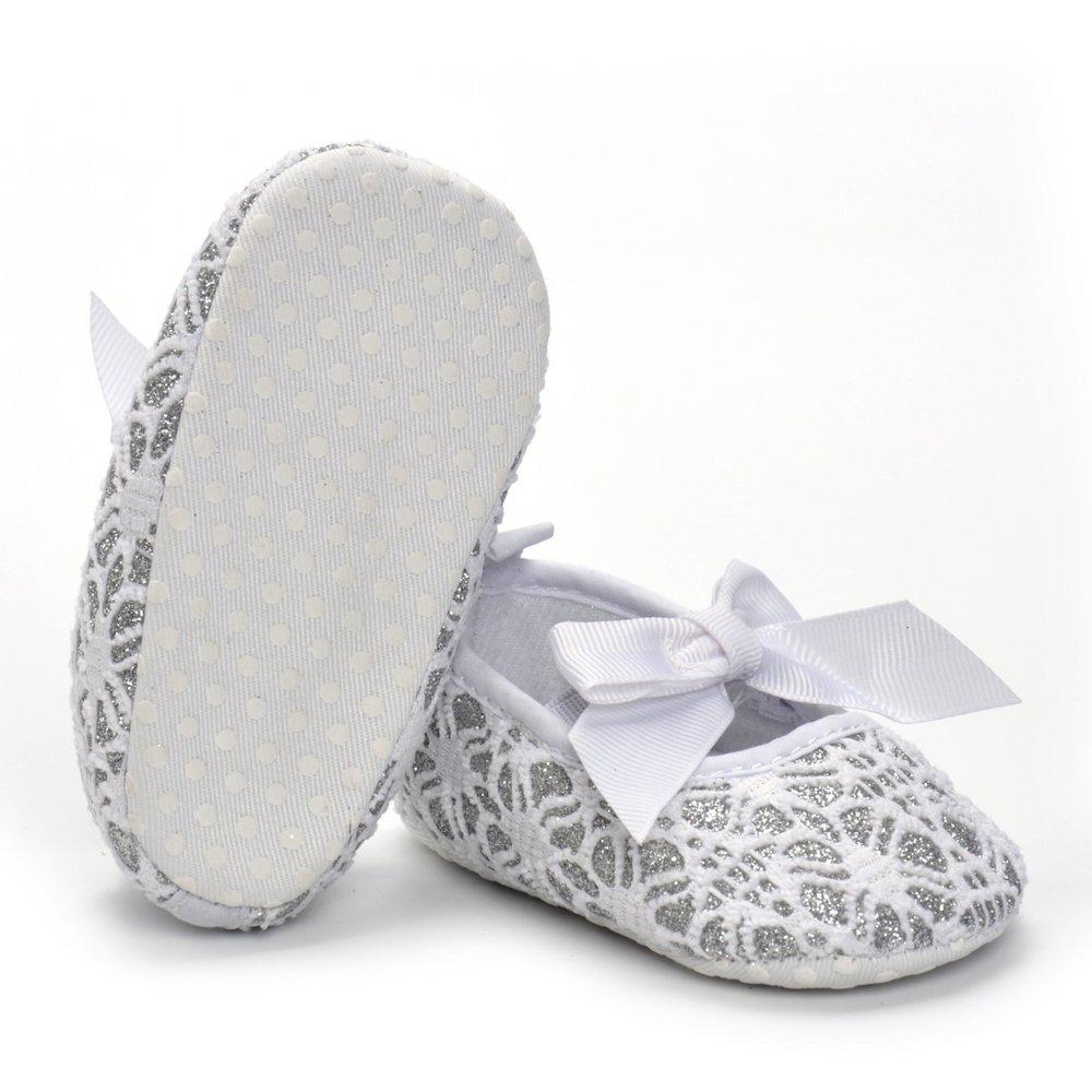 Estamico Baby Girl Net Yarn Floral Slip-on Shoes Moccasins