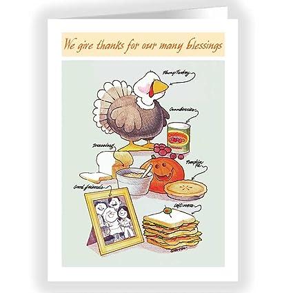 Amazon giving thanks cute thanksgiving card 18 pack office giving thanks cute thanksgiving card 18 pack m4hsunfo