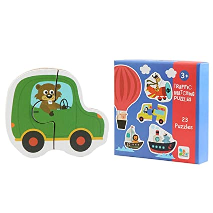 4297ac7cf5a8 Hisoul Puzzles Toy Kids Wooden Colourful Fruit Animal Jigsaw Toy Use  Learning Jigsaw
