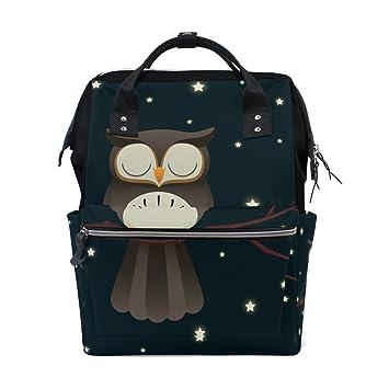 Amazon.com: mapolo diseño de búho bolsa de pañales mochila ...