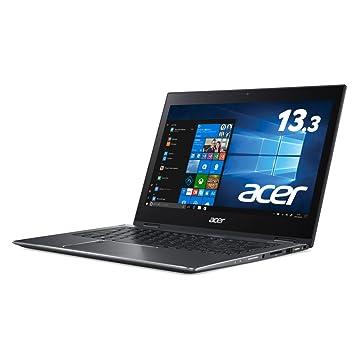 Acer ノートパソコン Spin5 SP513-52N-F78U (Windows 10/Core i7-8550U/13.3インチ/8GB/256GB SSD/ドライブなし/スチールグレイ)