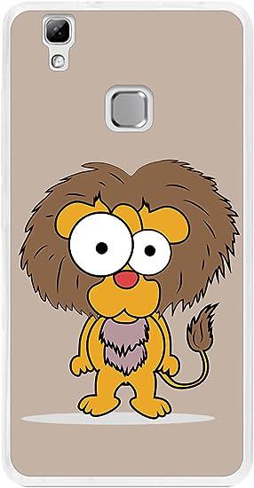 Tumundosmartphone Funda Gel TPU para DOOGEE X5 MAX / X5 MAX Pro diseño Leon Dibujos: Amazon.es: Electrónica