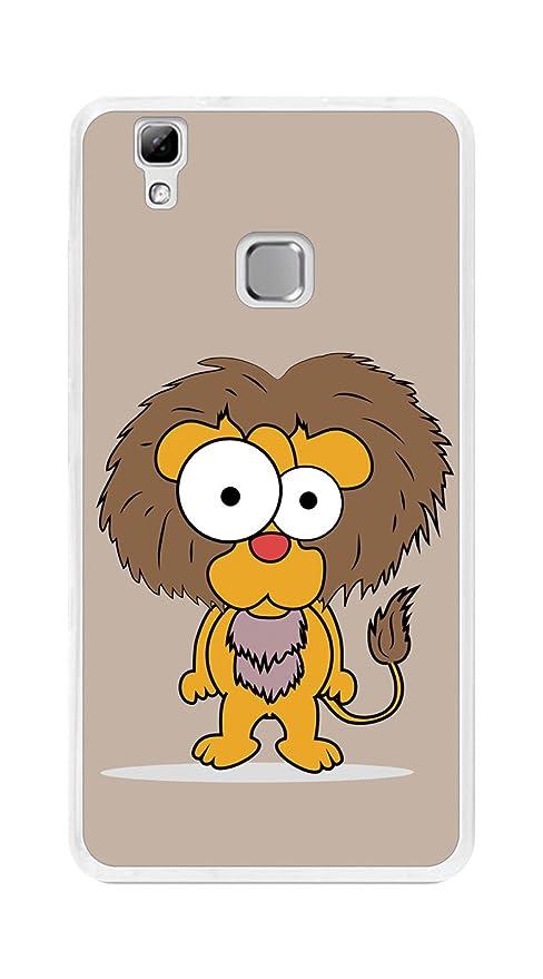 Tumundosmartphone Funda Gel TPU para DOOGEE X5 MAX / X5 MAX Pro diseño Leon Dibujos
