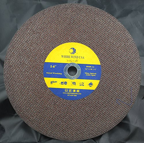 Whirlwind USA HSB 16-Inch x 1/8-Inch x 1-Inch Resin Bonded Abrasive Metal Cutting Blade 5-Pack (16