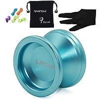 MAGICYOYO Responsive Beginner Yoyos V6 LOCUS Space Metal Yo-yos Kid Yo Yo Set Blue