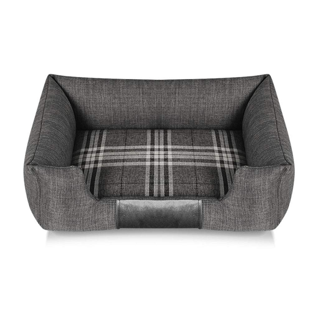 72x52cm PLDDY Small Large Medium Washable Pet Dog Bed Mattress Comfort Cat Nest Pet Sofa, Bite Resistance, Four Seasons Padded Rim Cushion (Size   72x52cm)